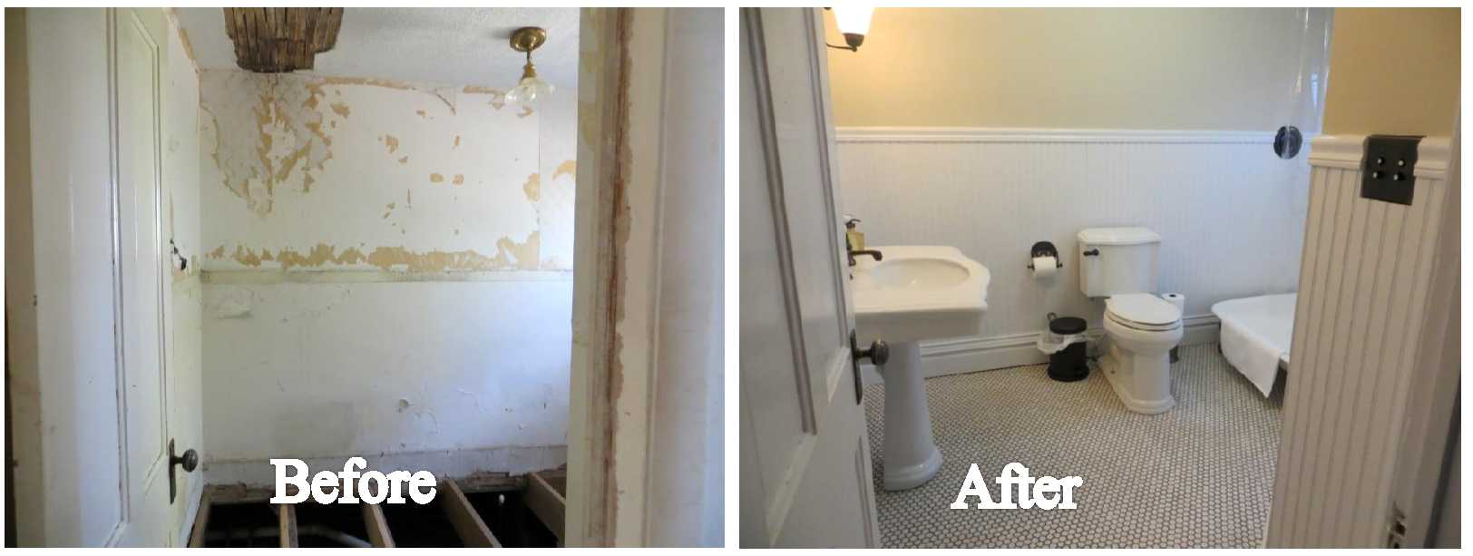 Bathroom Before And After the bathroom that wasn't….is. before and after | our house journey