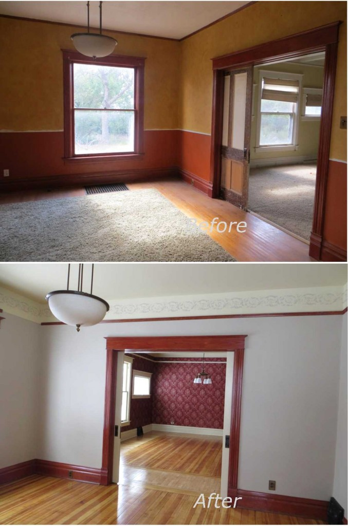 Front Room Before and After