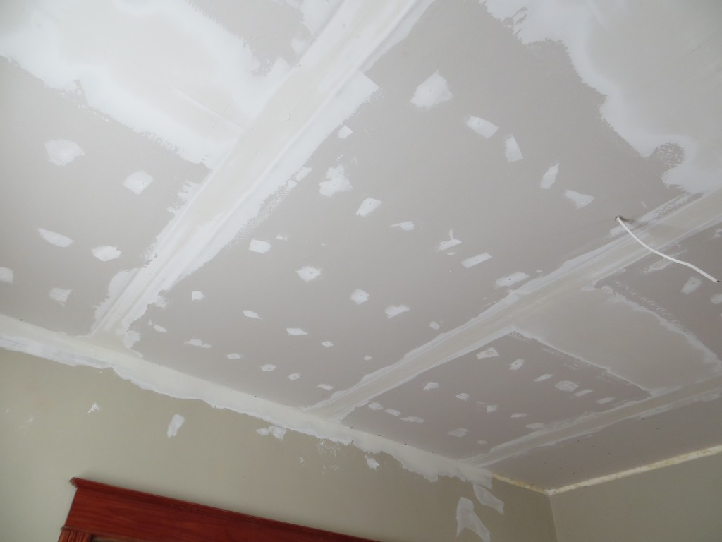 New drywall on ceiling