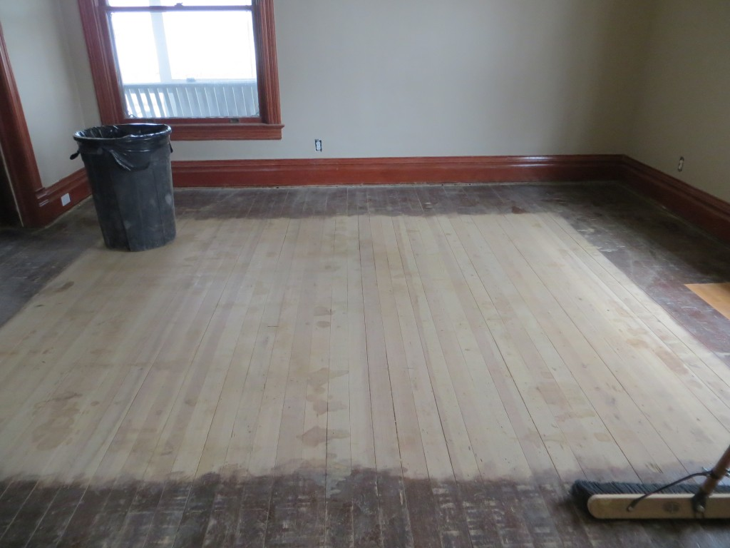 Front room with laminate removed
