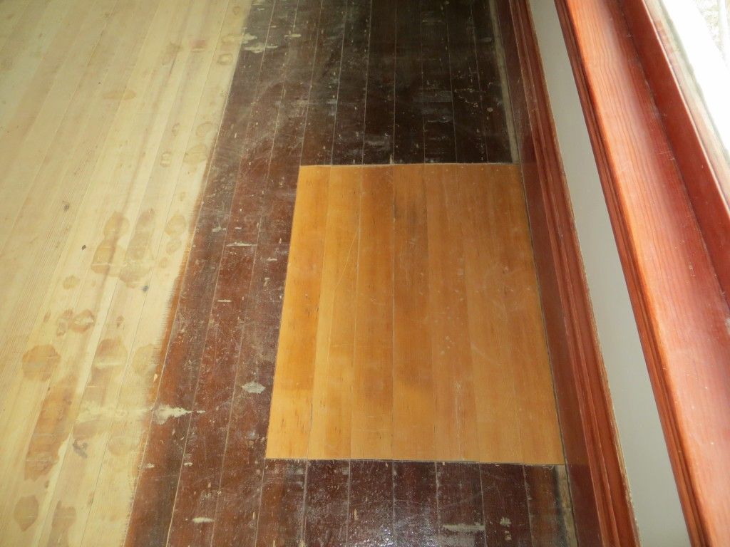Fir flooring patch