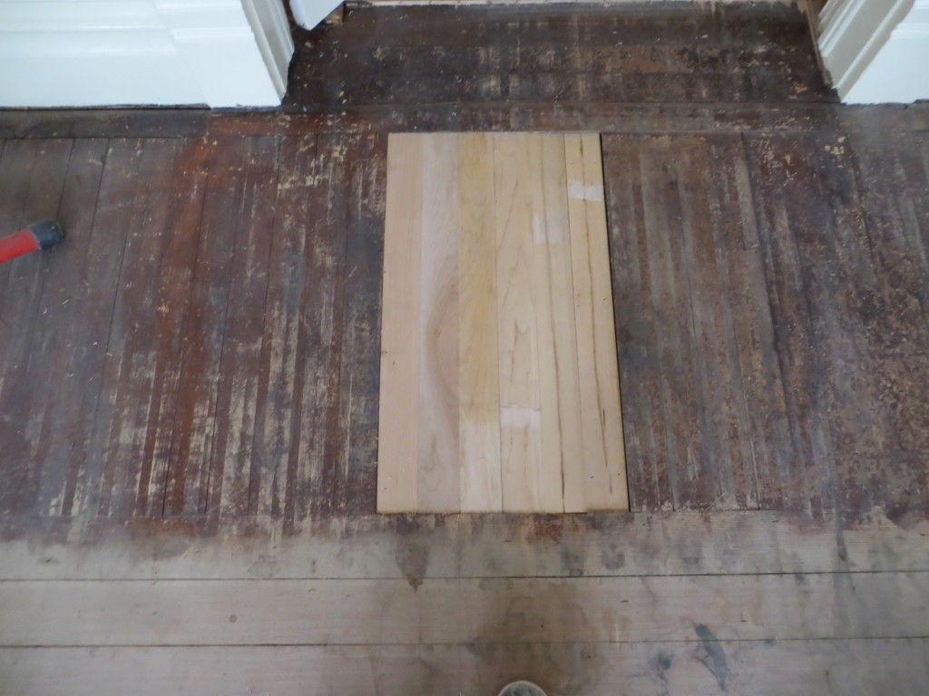 Maple flooring patch
