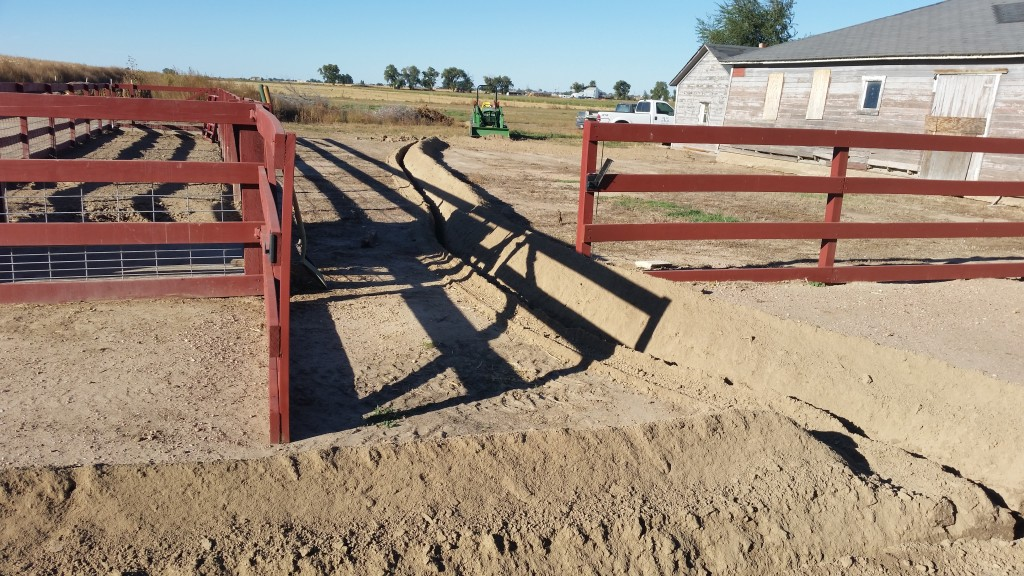 Corral after trenching
